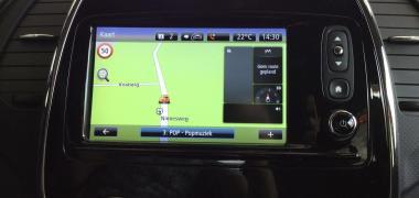 Ook rijden met navigatie is onderdeel van de rijlessen